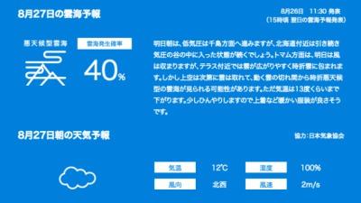 unkai weather forecast