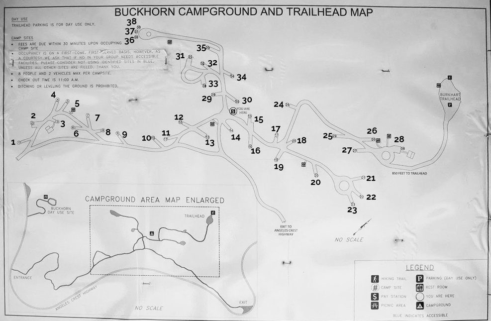 Buckhorn camp map
