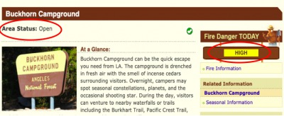 Buckhorn campground status