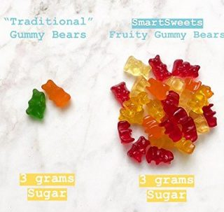 less sugar gummy bear
