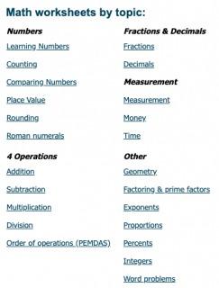 K5 learning math