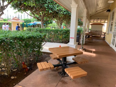 dole plantation table