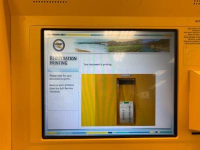 DMV Kiosk print